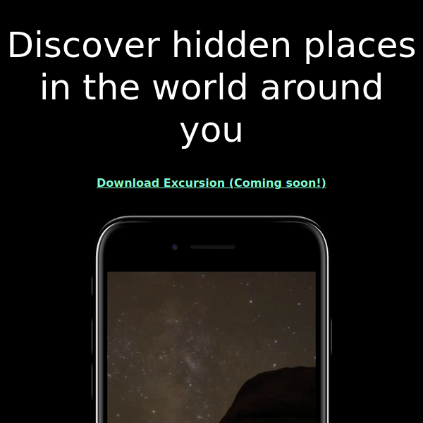 Screenshot of Excursion Project